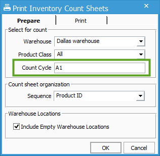 inventory count sheets