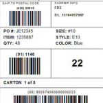 UCC/GS1-128 Shipping Label