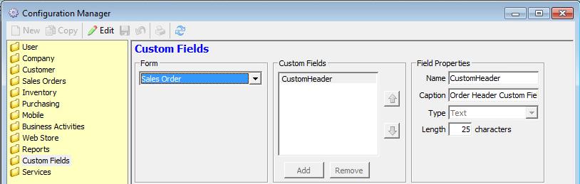Custom Field Order