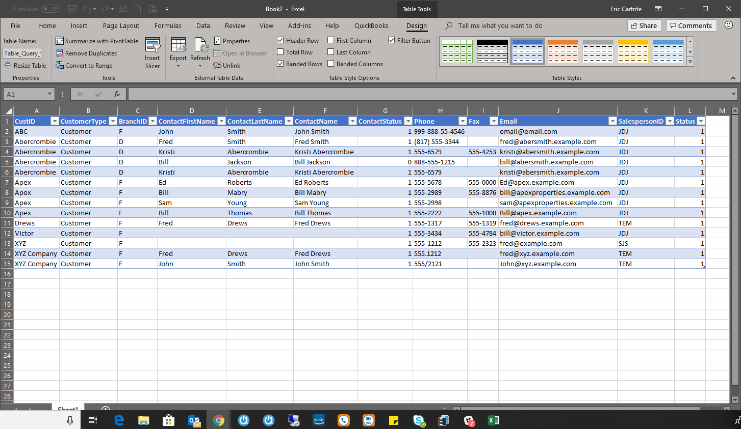 Simple Excel Query using Query Wizard   Acctivate Help