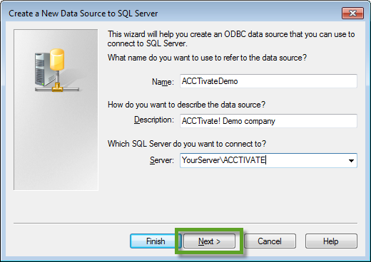 how to create a odbc connection in windows 7