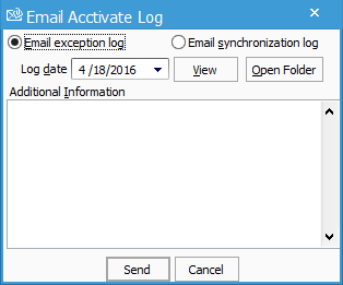 Email Acctivate Log