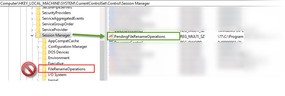 registry key pendingfilerenameoperations