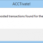 No posted transaction