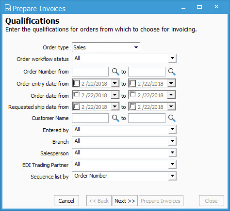 invoice a sales order acctivate help