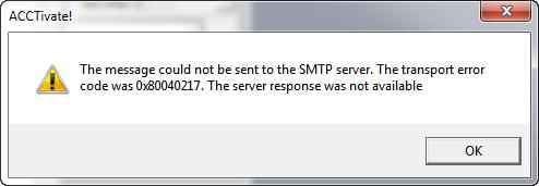 SMTP Error
