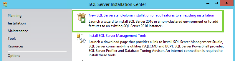 Install SQL Server 2016 Express Edition | Acctivate Help