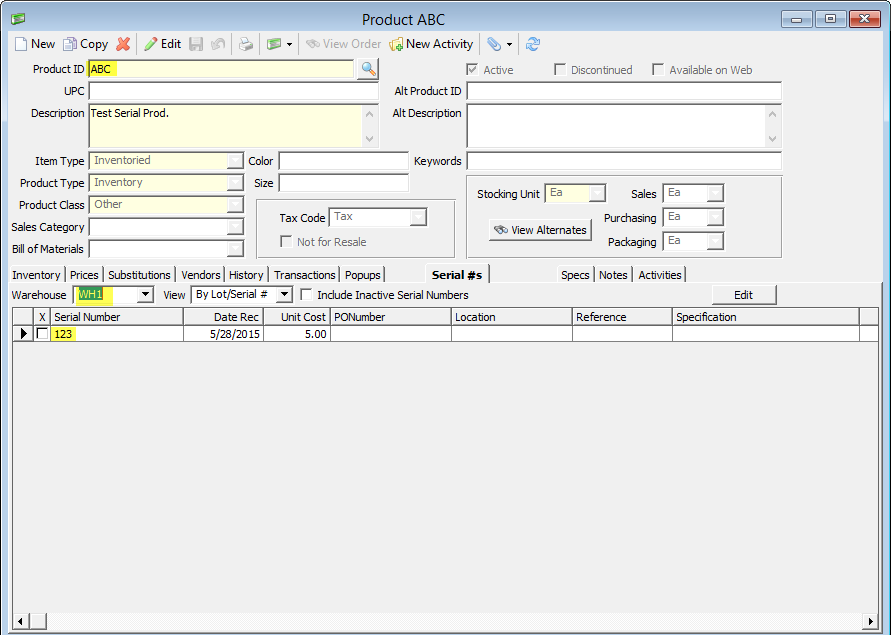 Duplicate Product Serial Numbers | Acctivate Help