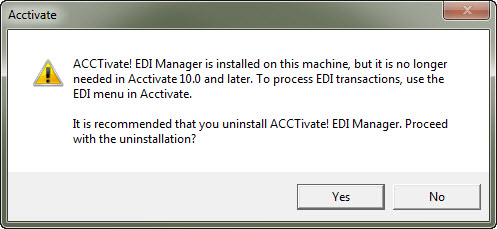 Uninstall EDI Manager