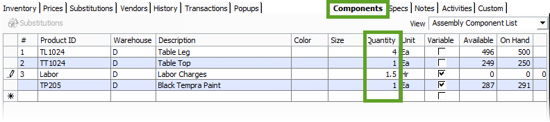 update-component-quantity