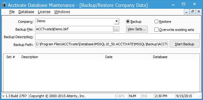 database maint 2