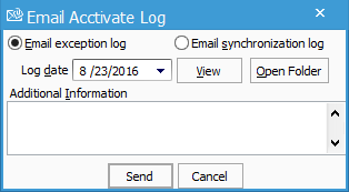 email exception log