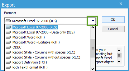 Export Crystal Reports information to Microsoft Excel