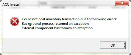external component error