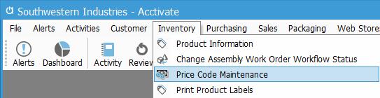 price code maint 1