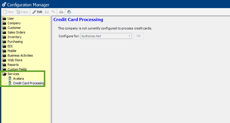 services - credit card processing